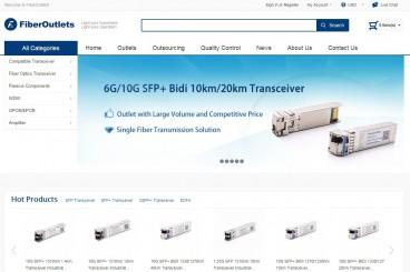 Fiberoutlets光通信产品批发交易平台