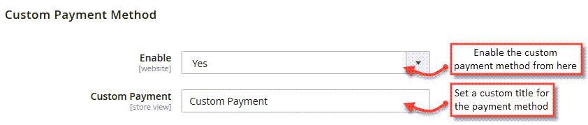 自定义付款方式创建